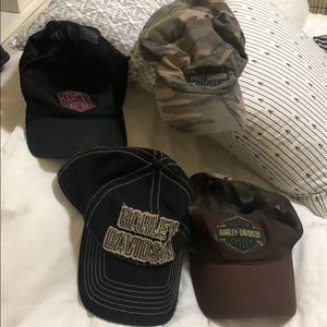 Four Harley-Davidson Awesome Hats